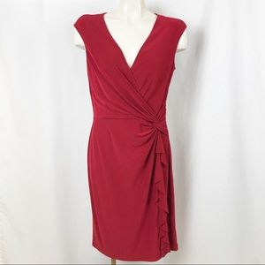 LAUREN Ralph Lauren surplice sheath dress 10